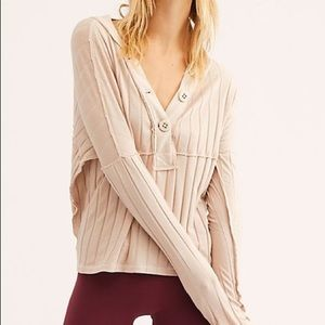 "Free People ""In The Mix"" Knit Top 